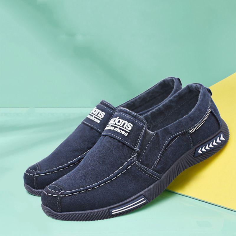 196960d6467b7a Acquista Scarpe Di Tela Primavera Uomo Moda Uomo Sneakers Casual Uomo Denim  Scarpe Casual Scarpe Da Ginnastica Traspirante Scarpe Maschili Autunno HH  1124 9 ...
