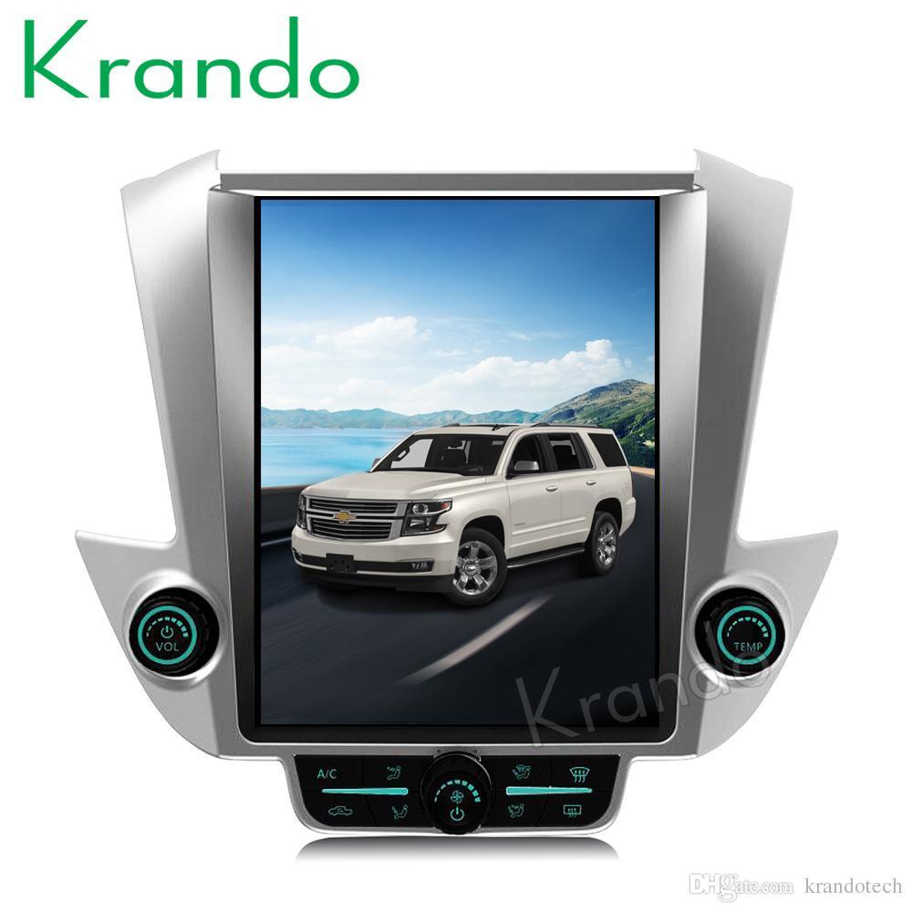 Krando Android 7 1 12 1 Tesla style Vertical car DVD player GPS for  Chevrolet Tahoe Suburban 2015-2017 navigation multimedia KD-CT512