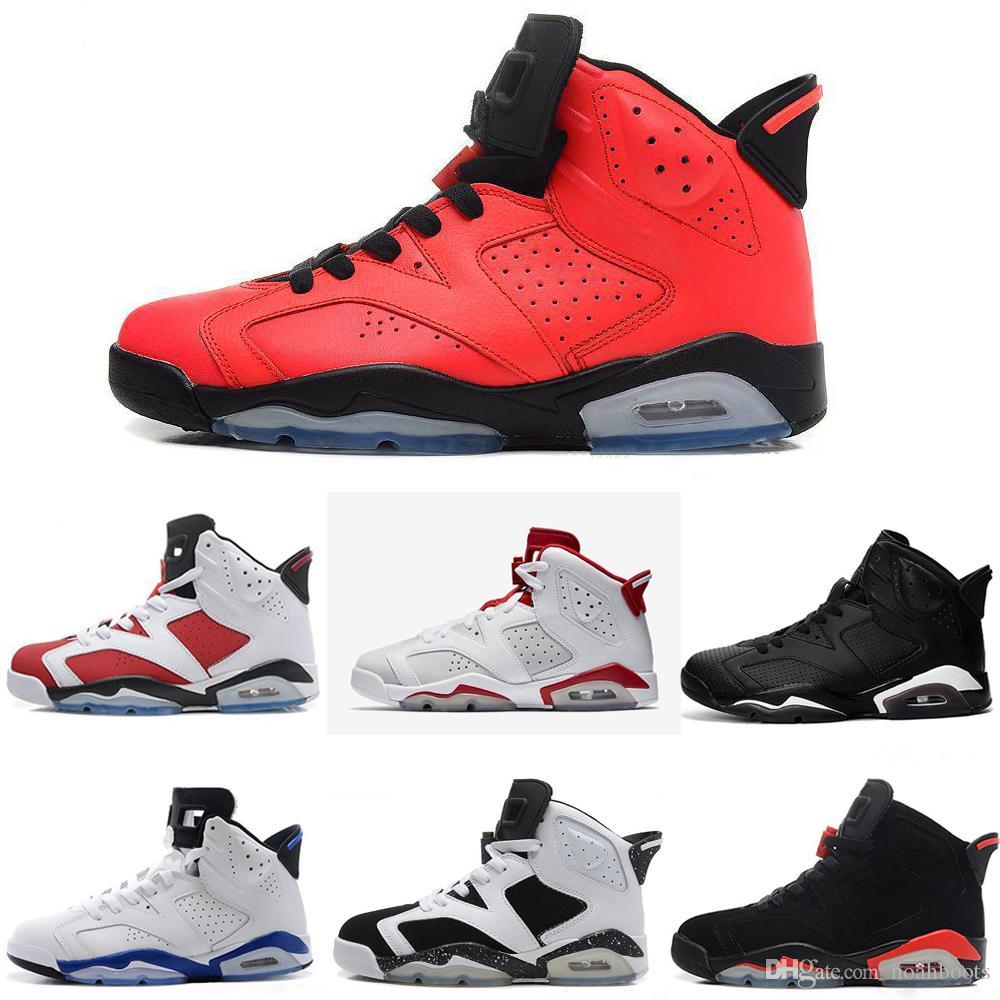 purchase cheap c556c 12997 Acheter Nike Air Jordan Aj6 Nouveau 6 6s Chaussures De Basketball Baskets  2018 Hommes Femmes VI Blanc Tinker Hatfield UNC Infrarouge Marron Gatorade  Or ...