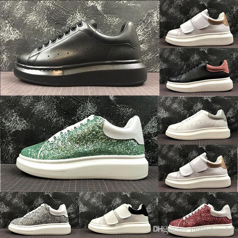 65464ad8fdf511 Acheter Tendance De Luxe Facile À Correspondre Femmes Hommes Chaussures  Plates Casual Chaussures Mode Noir Blanc Designer Baskets Jeunes Personnes  Fête De ...
