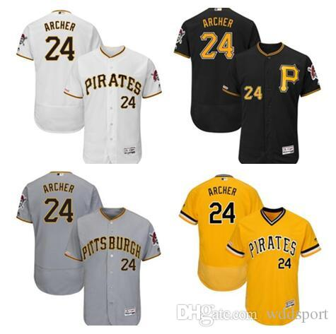 free shipping d5f3d 0f074 Men's Pirates Chris Archer Majestic White Home Flex Base Authentic  Collection Player Jersey