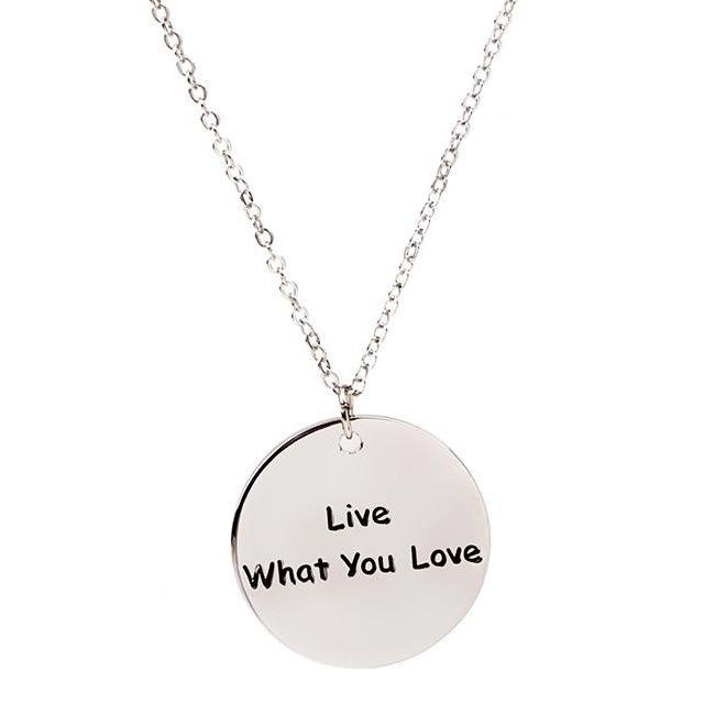 8a62c54c611 Wholesale 6 Kinds Personality Tide Tag Necklace Gothic Dog Tag Round Collar  Vintage Silver Statement Power Necklaces Pendant Party Men Women Jewelry  Locket ...