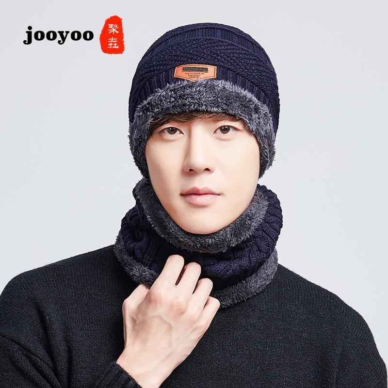 4c1734ce Knit Hat Men Korean Version Of The Tide Simple Casual Cap Autumn And ...