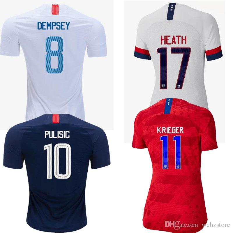 724ba77f848 2019 World Cup 2019 America Girl Soccer Jersey United States Home Away  Shirt USA Women 3 Star LLOYD RIPINOE KRIEGER Football Uniform Female 19 20  From ...