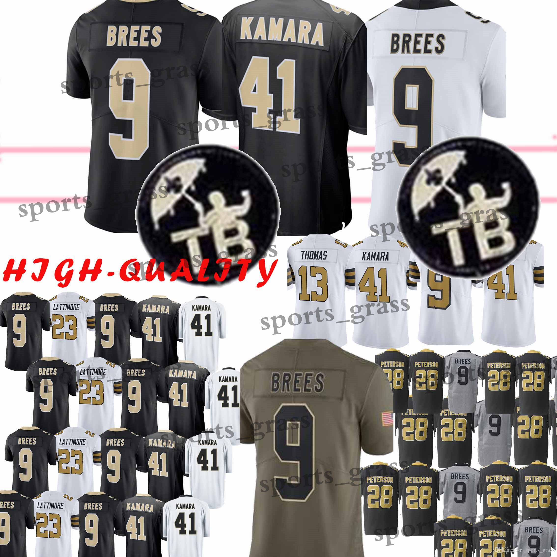 9 Drew Brees New Orleans 41 Alvin Kamara 88 Dez Bryant Saints 13 Michael Thomas 23 Marshon Lattimore Jersey 2019 New Youth Adult