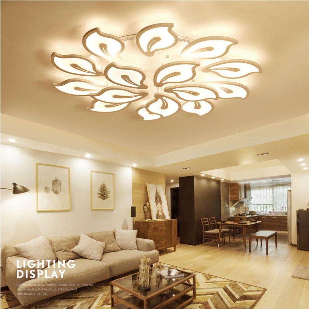Deckenleuchten & Lüfter Moderne Led Kristall Deckenleuchte Licht Mit 8 Lichter Für Wohnzimmer Beleuchtung Für Zuhause Lustre De Sala Kostenloser Versand Leuchte Deckenleuchten