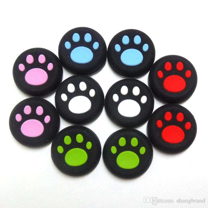 5colors Cat Claw Rubber Silicone Joystick Cap Thumb Stick Grip Grips Caps For PS4 PS3 Xbox one 360 Controller for Switch NX NS