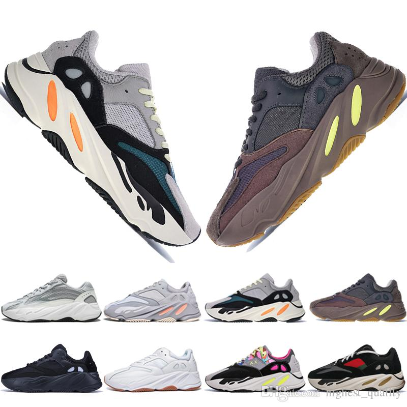 a7f96a22a Best Quality Kanye West 700 V2 Static 3M Mauve Inertia 700s Wave Runner  Mens Running Shoes For Men Women Sports Sneakers Designer US 5 11.5 Cheap  Running ...