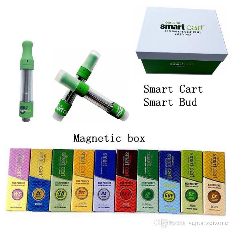 Smart Cart Vape Cartridges Packaging Magnetic Box Smart Bud 1 0ml Ceramic  Coil Empty Vape Pen Cartridge Vaporizer Thick Oil For 510 Battery