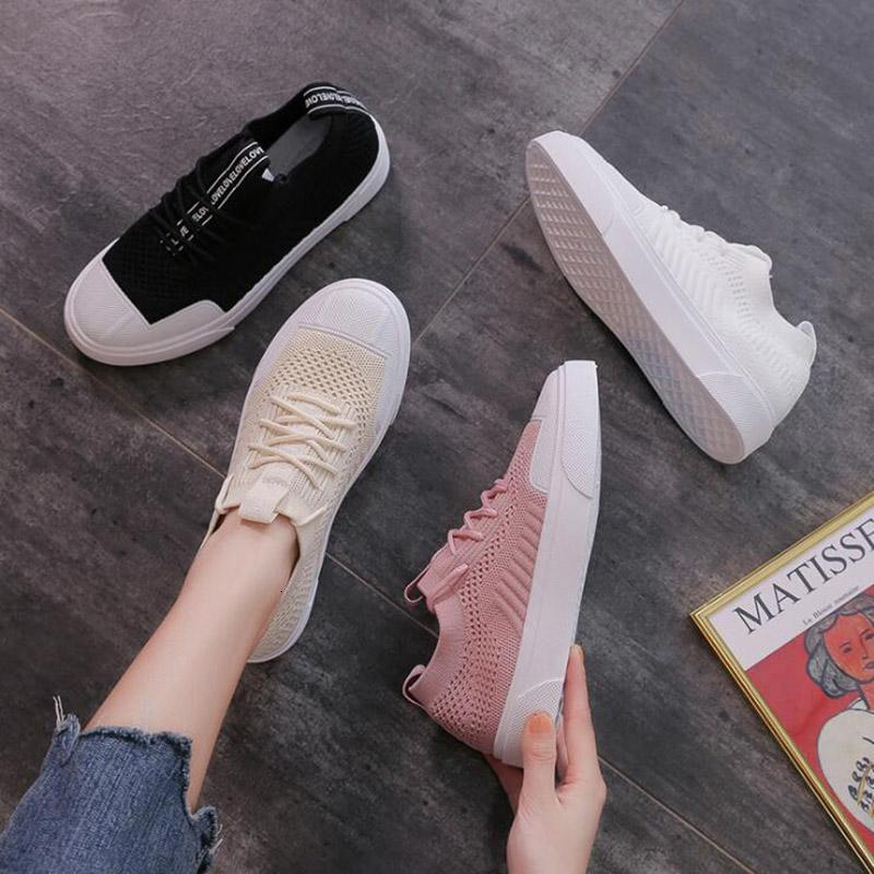 New Women Casual Sneaker Pure White all-match Fashion Womens Outdoor Shoes Triple Black Pink Beige Mesh Cloth Shoes Size 36-39