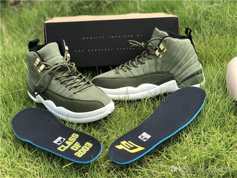 dc7a10ef860444 2019 2018 Authentic 12 Chris Paul Graduation Pack CP3 CLASS OF 2003 Green  Suede Man Basketball Shoes Sneakers Real Carbon With Box 130690 301 From  Clailyp