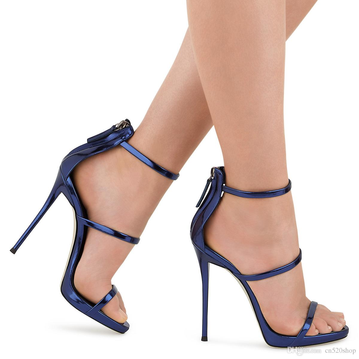 68bb7f4115066b 2019 New Fashion Women High Heels Sandals Night Out Party Shoes Open Toed  High Heels Sexy Solid Color Women Pumps Plus Size 34 44 Shoes Uk Flat  Sandals From ...