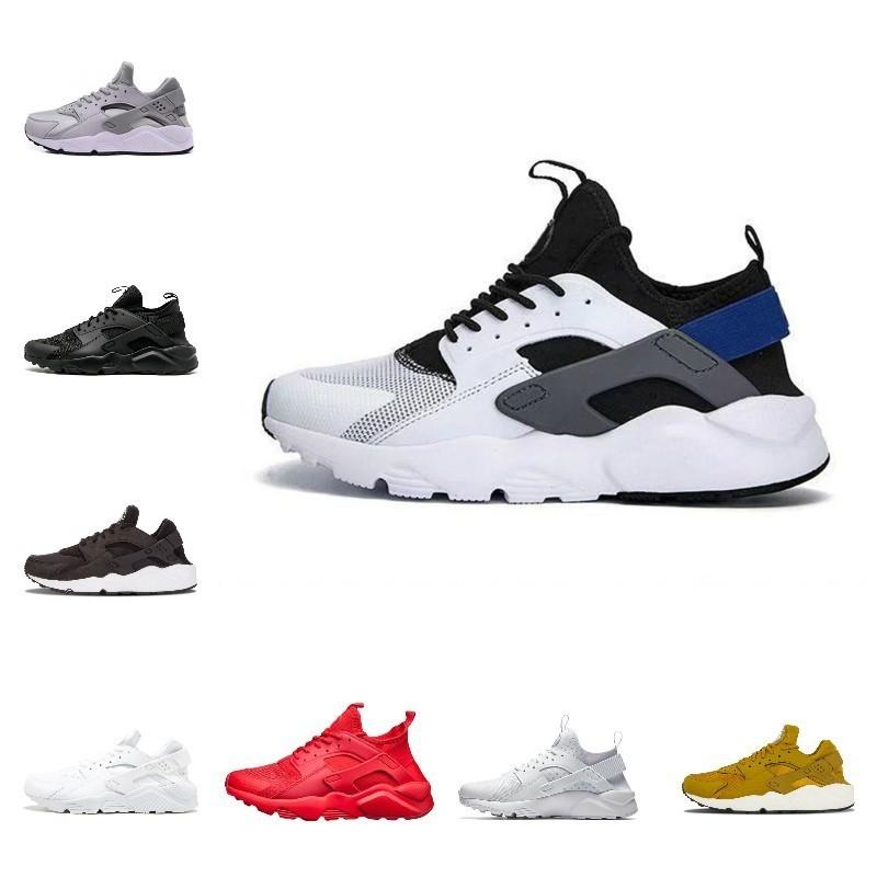 f707adc1e9a7 2019 New Air Huarache 1.0 4.0 Men Running Shoes Cheap Stripe Red Balck White  Rose Gold Women Trainer Shoes Walking Sport Sneakers Pink Shoes Vegan Shoes  ...
