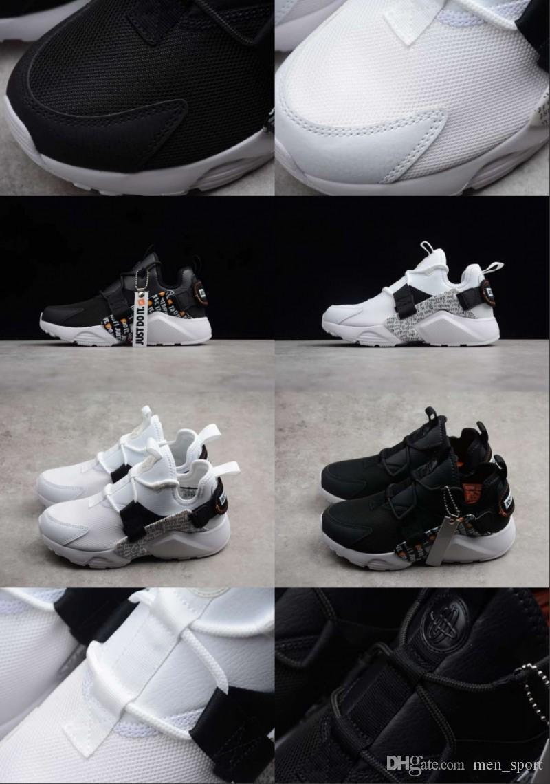 a330a742e87 Acheter Huarache Drift PRM City Low 5 Chaussures Décontractées Confortables  AAA + Qualité Huarache 5s V Vert Blanc Hommes Femmes Athlétique Baskets  Taille ...
