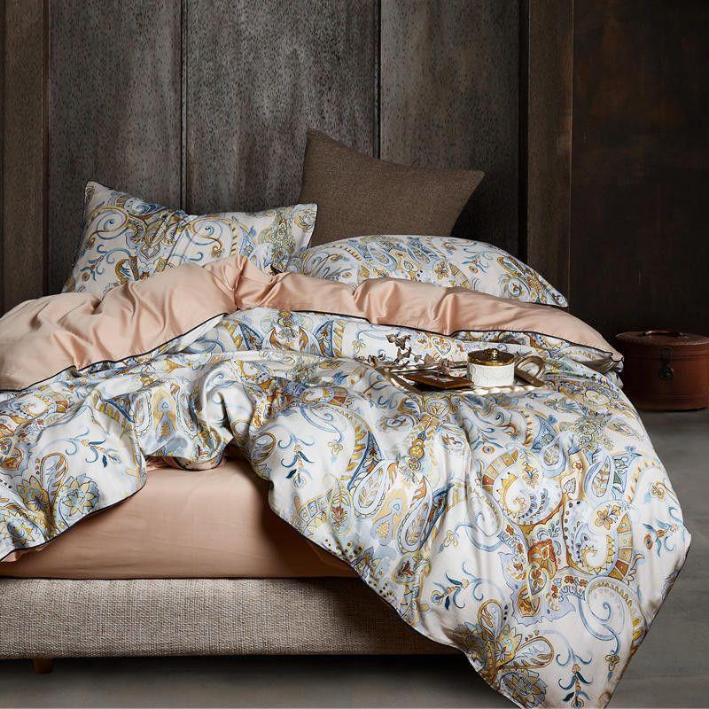 Reversible Sky Blue /& Pale Blue Duvet cover Pillow cases 3pcs 100/% Cotton 400TC