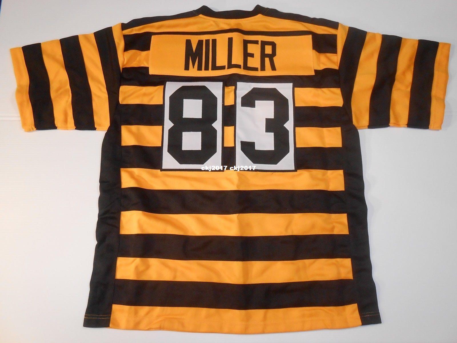 f9614c431 Cheap Retro custom Sewn Stitched #83 Heath Miller Bumblebee MITCHELL & NESS  Jersey High-end Men's Football Jerseys College NCAA