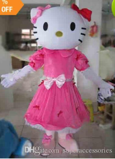 sale Miss Hello Kitty Mascot Costume Adult Size Hello Kitty Mascot Costume High quality adult mascot costume free shipping