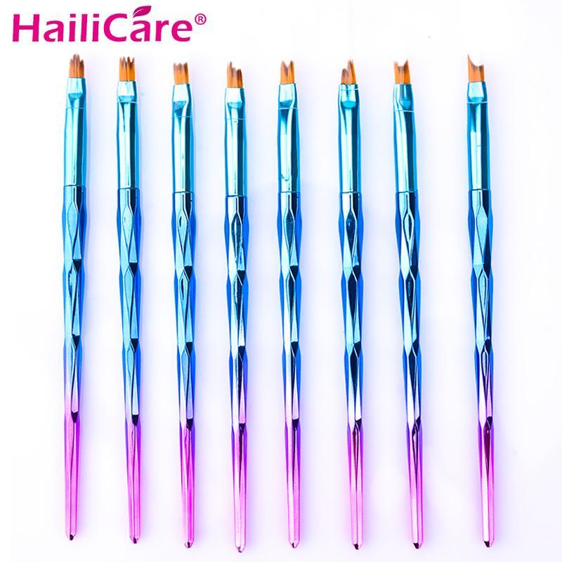 Pack Acrylic French Nail Art Brush Set Acrylic UV Gel Painting ...