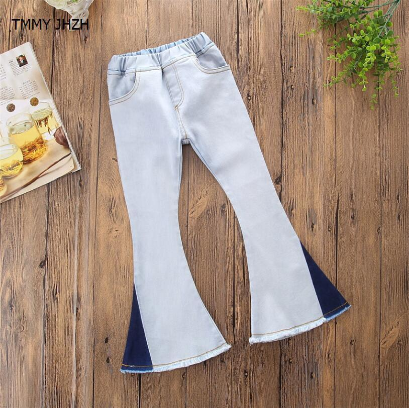 Mädchen Jeans Hose Frühling Herbst 2019 Kinderbekleidung Jeans Weiße Hose Lässig Teenage Hose Baby Kinder Hose