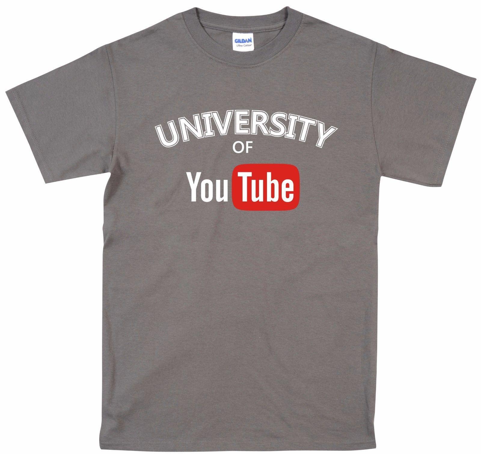 Satın Al Size Komik T Shirt üniversitesi Tüp Unisex Retro Klasik Tee
