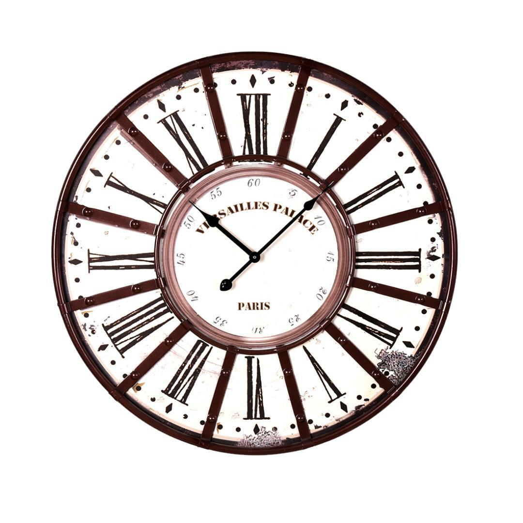 58cm Retro Type Iron Art Mute Wall Clock Roman Numerals Design