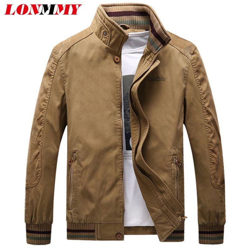 purchase cheap 5758e a7c12 LONMMY PLUS SIZE 5XL Giubbotto bomber uomo abbigliamento Capispalla cotone  Streetwear jaqueta masculina Giacche uomo e cappotti Verde militare