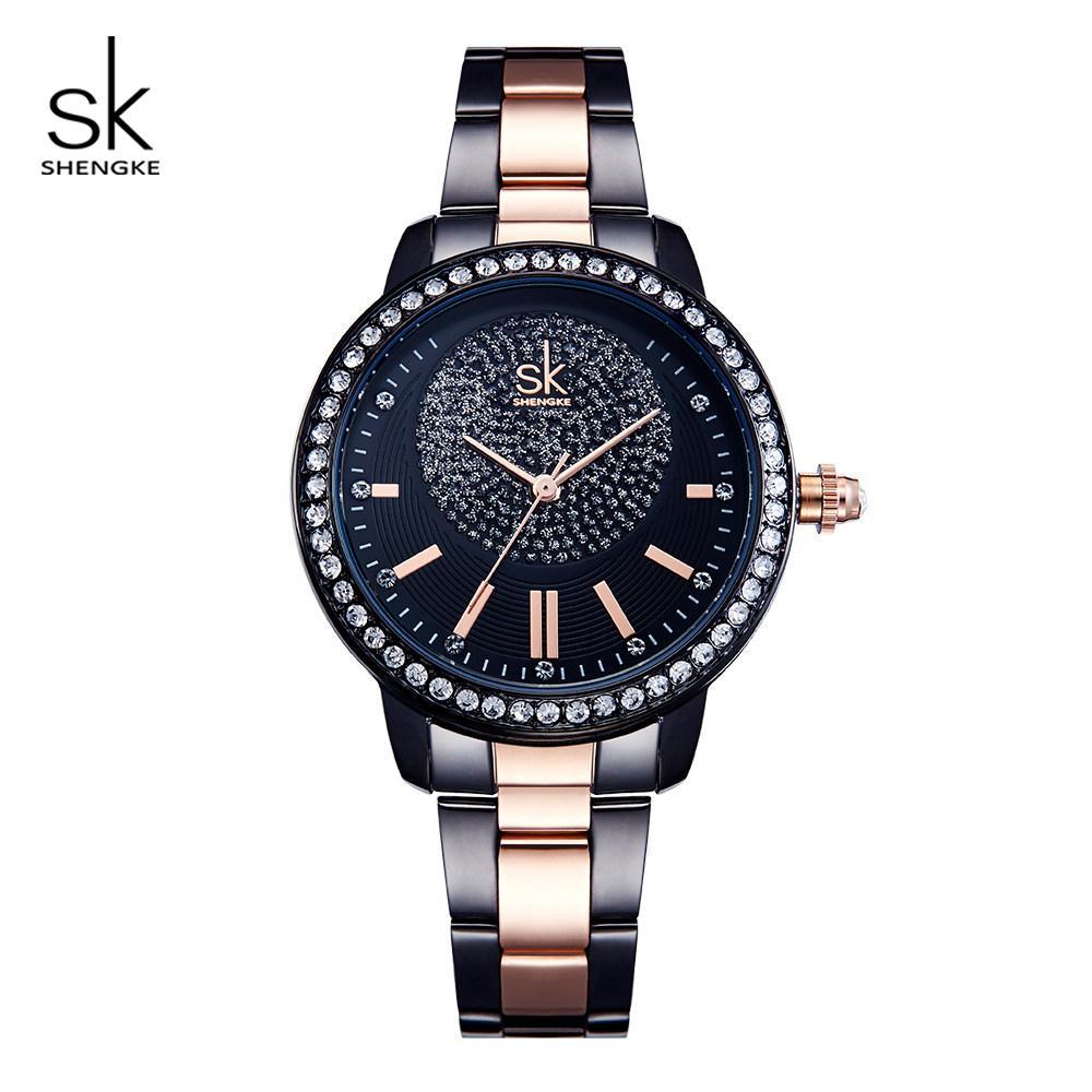 Women's Watches Silver Luxury Women Watch Stainless-steel Military Strap Band Analog Quartz Bracelet Watches Female Clock Relogio Feminino D4