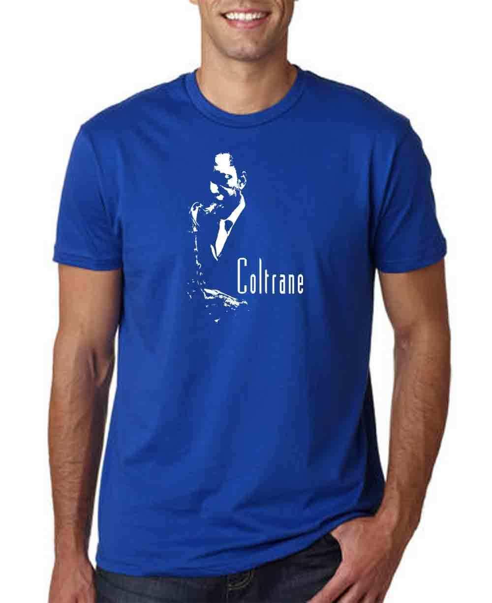 5b4420ba2 JOHN COLTRANE JAZZ ROYAL BLUE MEN T SHIRT MUSIC SAX BEBOP BLUES SAXOPHONE  MILES Funny Unisex Casual T Shirts Designer Funny Tee Shirt From  Clothing_dealss, ...