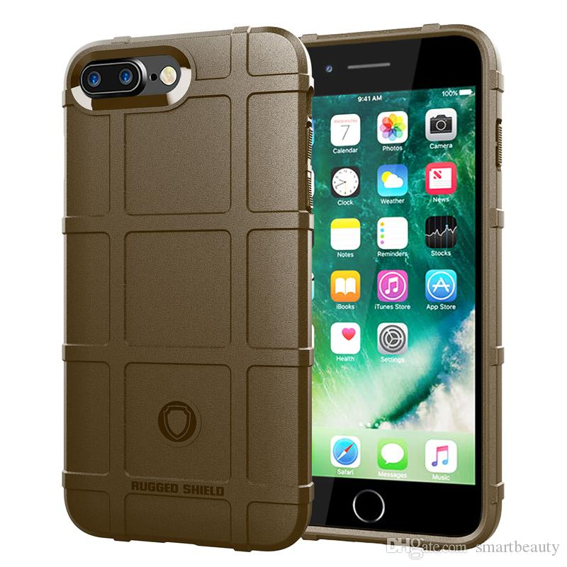 360 Degree Full Body Protection Case for Iphone 8 Plus 7 Plus Soft TPU Thick Solid Armor Tactical Protective Cover Case