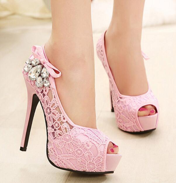 6ee089f005b Acheter 2019 Robe Dames Zapatos Mujer Dames Peep Toe Pompes Femmes Plate  Forme De Mariage Chaussures Femme Talons Hauts Sapato Feminino Sandales D  été ...