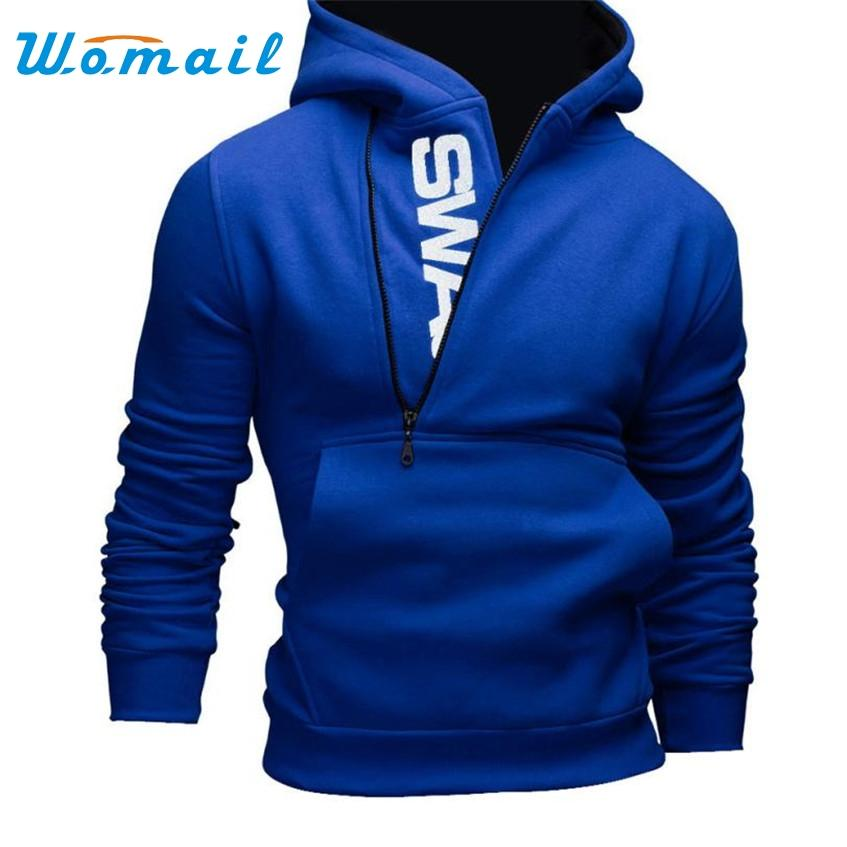 2017 Mens' Long Sleeve Hoodie Sweatshirts Tops Jacket Coat Outwear Plus Size