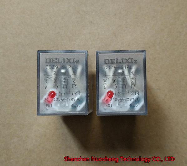 Brand new and original DELIXI CDZ9L-54P HH54PL MY4NJ AC 220V intermediate relay with light 14pins 3A relay ~