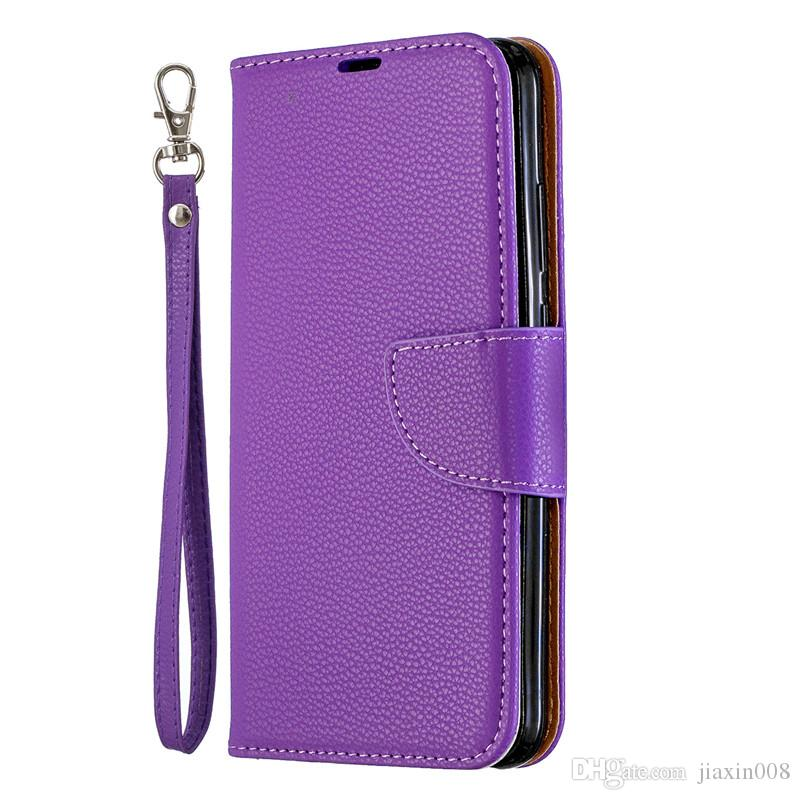 reputable site 37fe9 eca8a Flip Cover Stand Wallet For Huawei P Smart Plus 2019/Honor 10i Case Pure  Color Lichee Pattern PU Leather Mobile Phone Cases