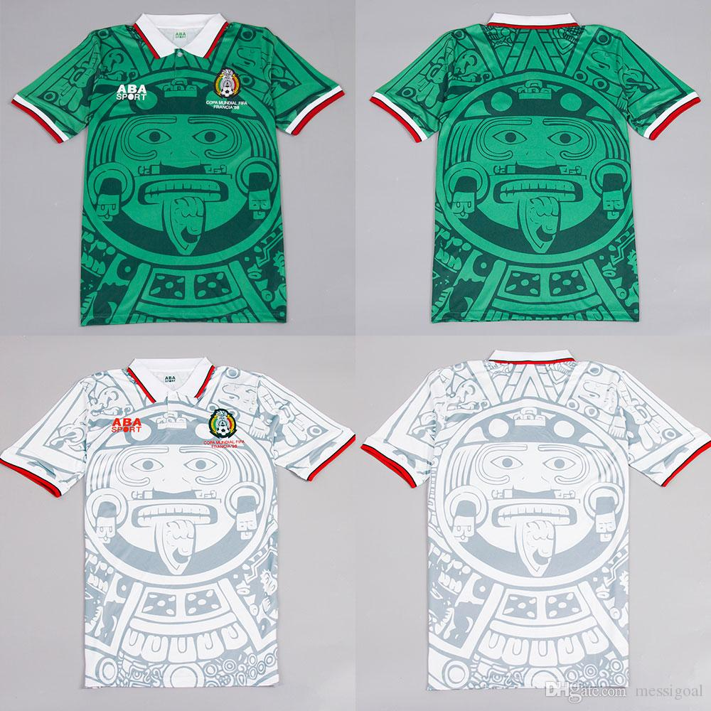 a797716aa 2019 Classic 1998 Mexico Retro Jersey Vintage Soccer Jersey 98 World Cup  Mexico Home And Away Football Shirt Camisa De Futebol Maillot From  Messigoal