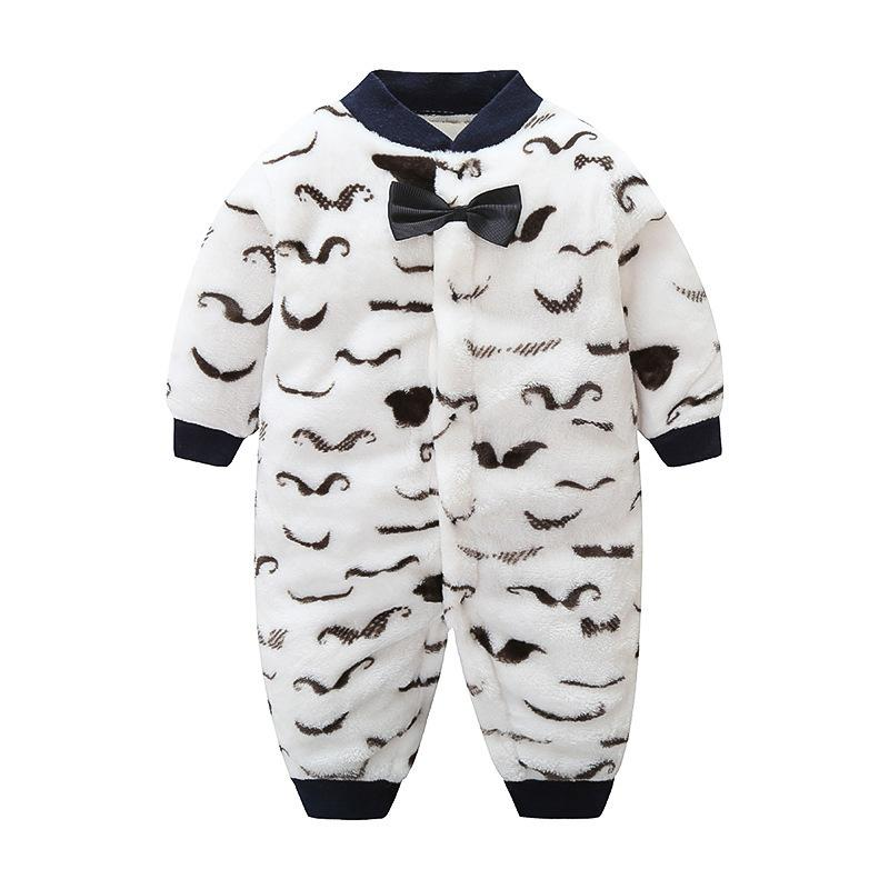ae3d96acf482 2019 Good Qulaity Baby Boys Plus Velvet Romper Infant Warm Winter Clothing  Gentleman Bow Newborn Sleepwear Jumpsuits New Baby Outfits From  Superbest17