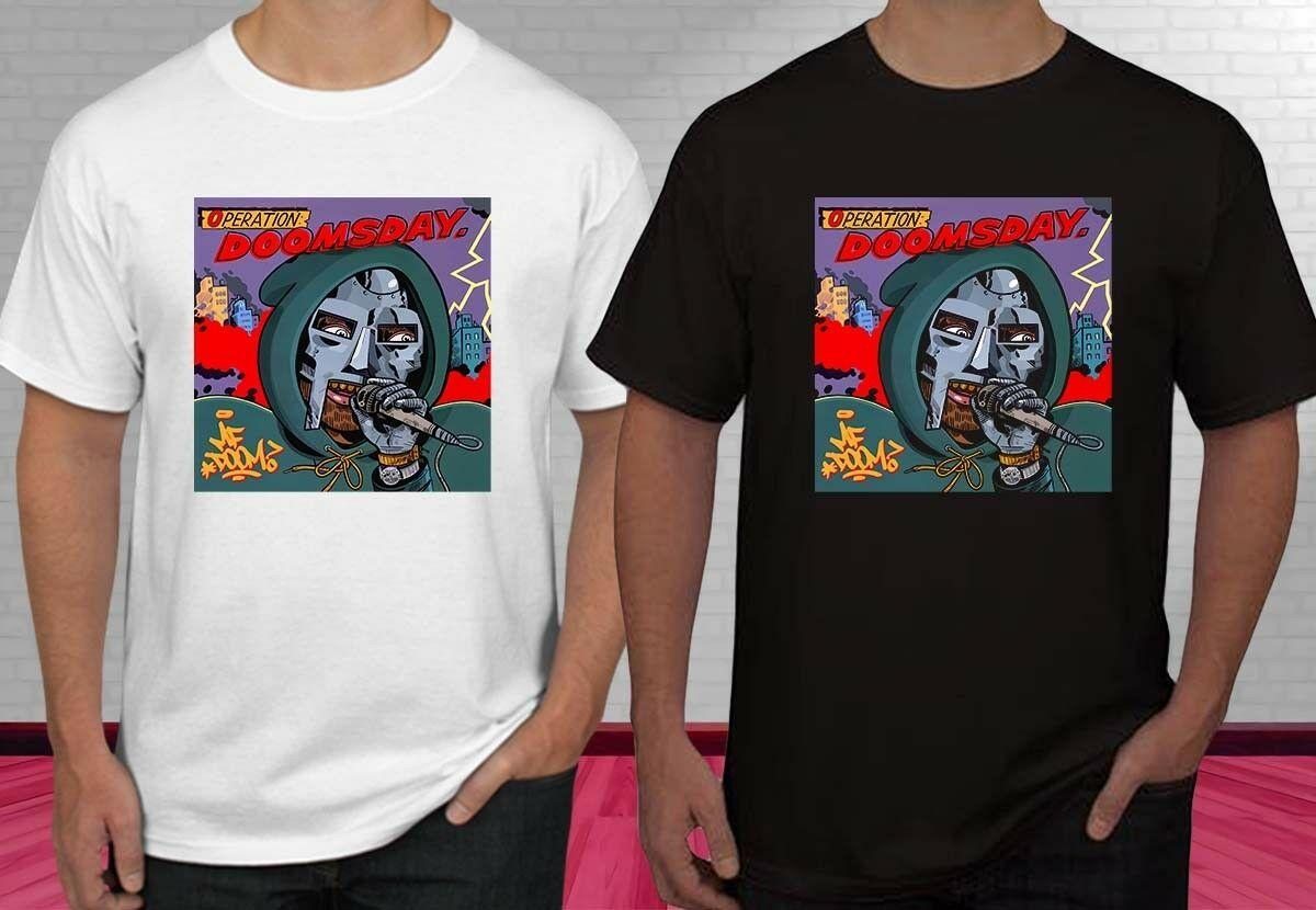 New MF DOOM Operation Doomsday Black And White Men s T-shirt S-2XL Funny  free shipping Unisex Casual top