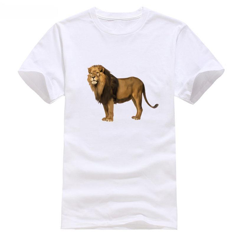 2c61955aaf8c Lion T Shirt Discout Hot New Fashion Top World 2018 100% Cotton Short  Sleeve O Neck Printed Men T Shirt Clothes Best Funny T Shirts Really Cool T  Shirts ...