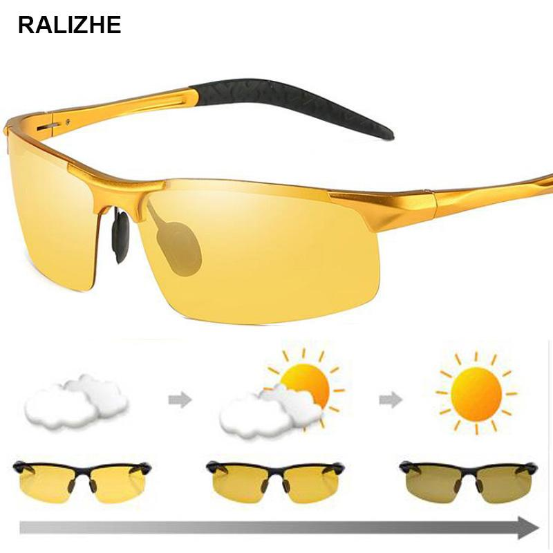 054519aa8a High Quality Men Day Night Vision Glasses Polarized Photochromic  Discoloration Lens Anti Glare UV400 Yellow Driving Goggle Sport Baseball  Sunglasses John ...