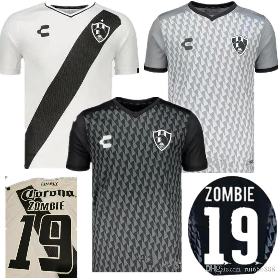 4bb99bc5a67c1 2019 Club De Cuervos Charly Jersey 2019 Raven New ZOMBIE Soccer Jerseys  AMLO Football Shirt Mr