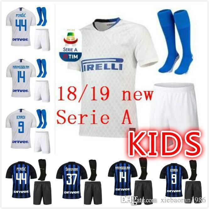 low priced 0ffd9 214da 3 TOP Quality ICARDI LAUTARO Inter Milan 2019 Kids Kit Socks soccer jersey  PERISIC NAINGGOLAN POLITANO EDER AMBROSIO 18 19 Football shirt