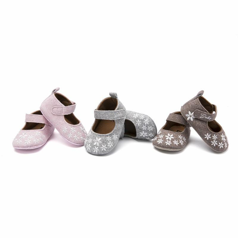 970c03c346a5 2019 Spring Newborn Baby Girl Shoes Princess With Flowers Toddler Crib  Infant Little Kid First Walker Shoes 3 12M From Sophine13