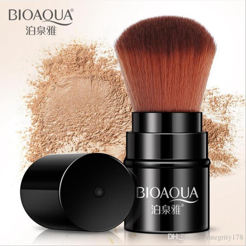 BIOAQUA Cepillo telescópico Cepillo en polvo Herramienta de maquillaje Mini Fundación retráctil Maquillaje en polvo Blush Beauty Brush Travel Cosmetic