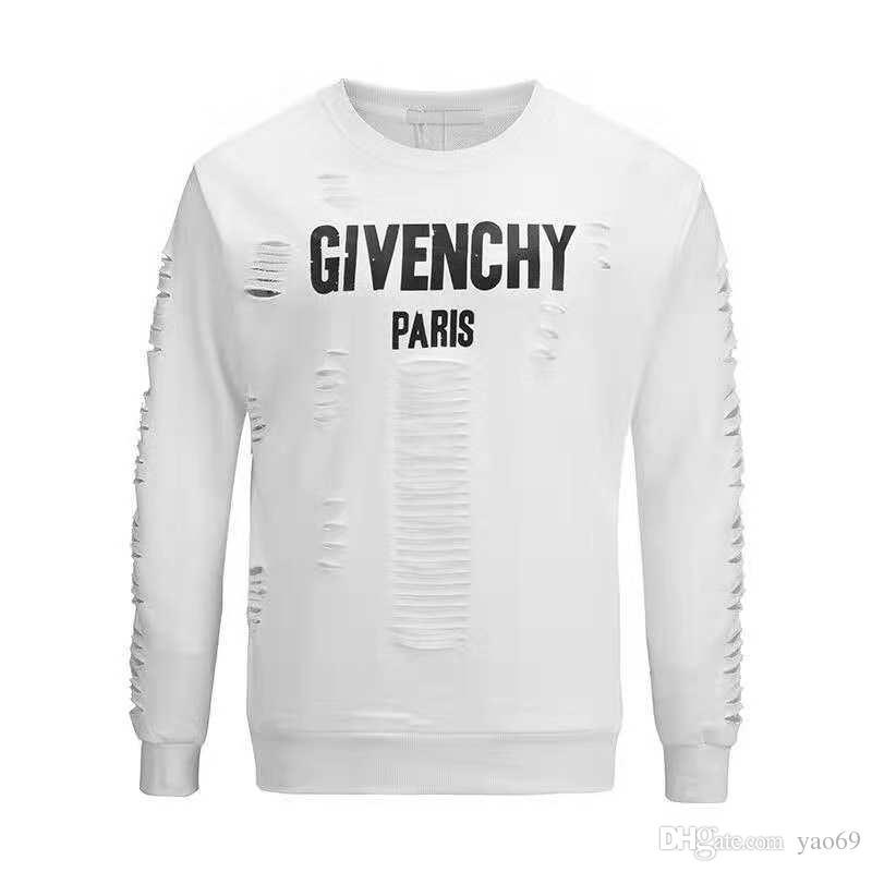 c2a99c33 2018 19 Men's Designer Hoodie Sweatshirt Designer Pullover Sweatshirt Brand  Men's Pullover Long-sleeved Letter Embroidery Fashion Clothing