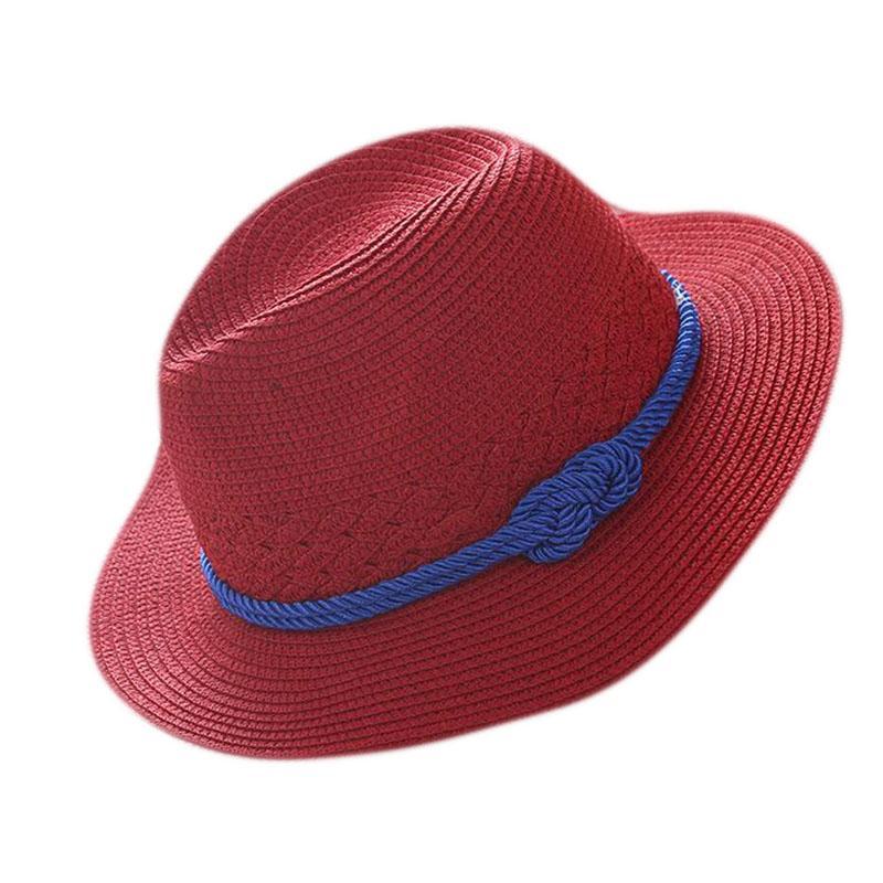 e78d46f3bc92cd BING YUAN HAO XUAN Vintage Straw Hat Panama Fedora Men's Sunhat Women  Summer Beach Sunshade Cap Chapeau Cool Jazz Trilby Cap Hat