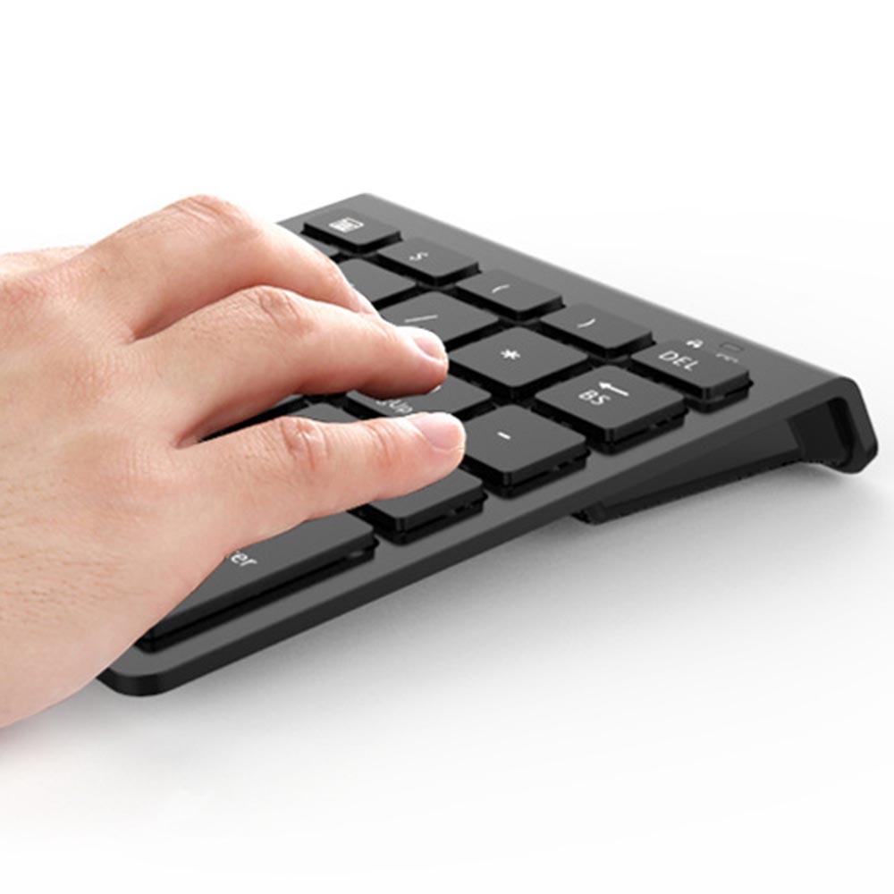 28 Keys Wireless Numeric Keypad Mini Numpad with More Function Keys Digital  Keyboard For PC Accounting tasks