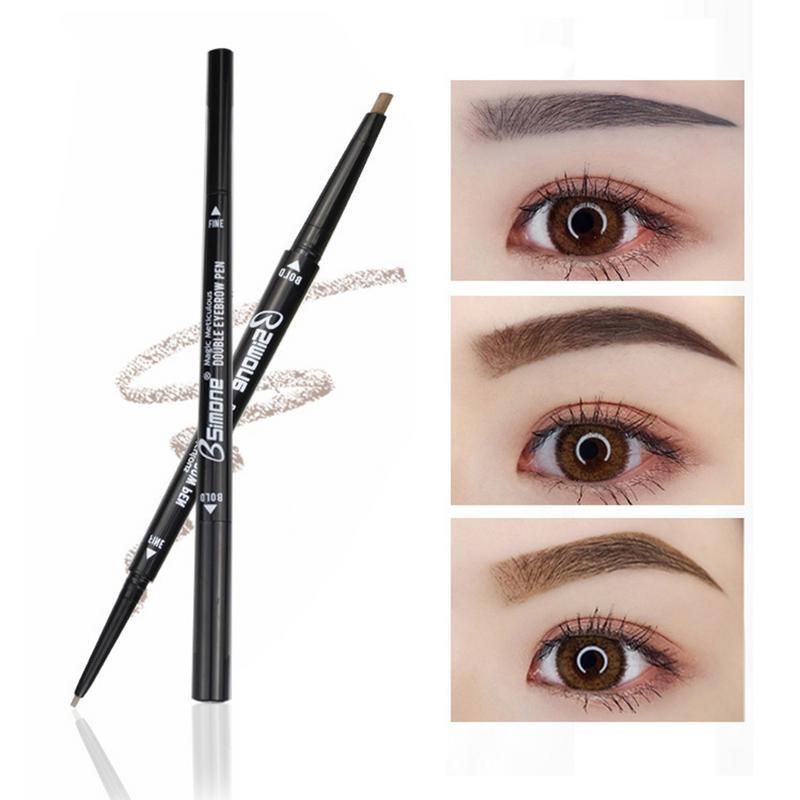 Thick Double Eyebrow Pencil Cosmetics Waterproof Paint Tattoo