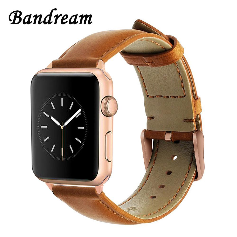 Italy Vintage Leather Watchband For IWatch Apple Watch 38mm 40mm 42mm 44mm  Series 1 2 3 4 Band Wrist Strap Bracelet Brown Black Leather Watch Bands  Speidel ...