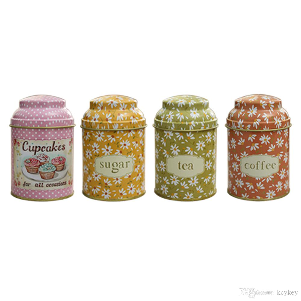 2019 Kcykey Decorative Metal Food Canisters With Lids Rustic