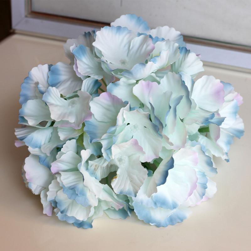 2019 Petals Simulation Hydrangea Fake Flower Head DIY