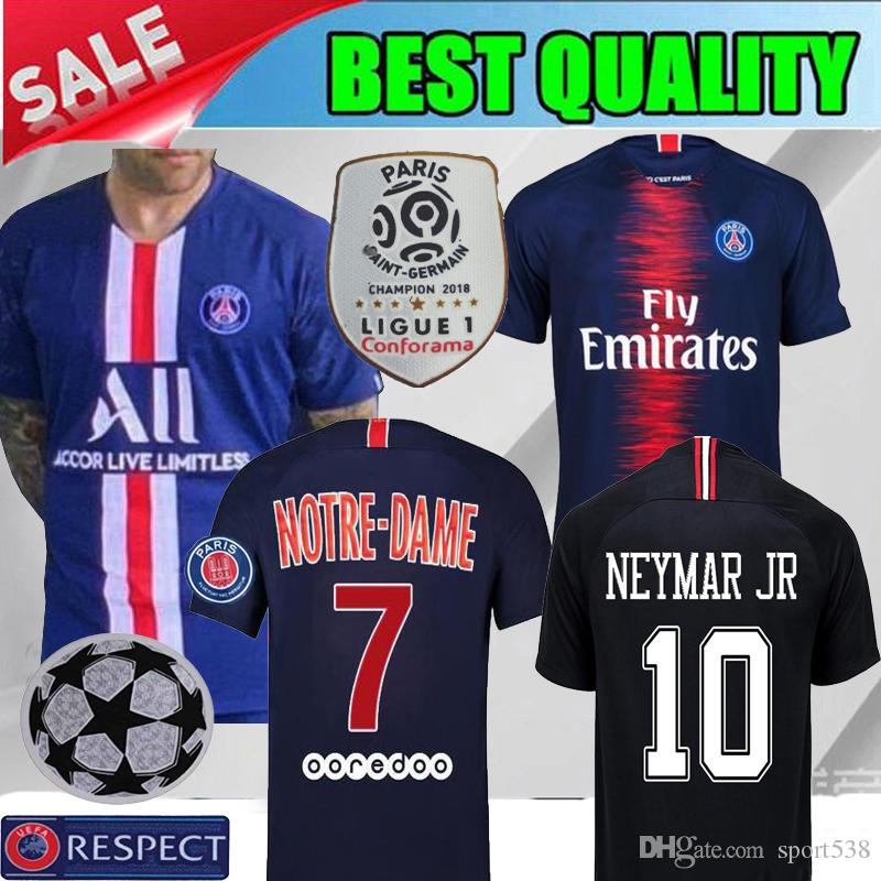 3acebfe5b 2019 2019 PSG Home Away SOCCER JERSEYS 19 20 Paris Blue MBAPPE CAVANI  VERRATTI Football Shirt 2020 JERSEY FOOTBALL GRAY SHIRTS From Sport538
